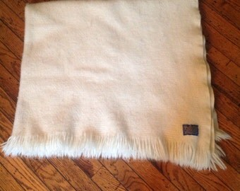 Vintage Pendelton Pure Virgin Wool Blanket 48 x 50