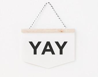 YAY - wall hanging card