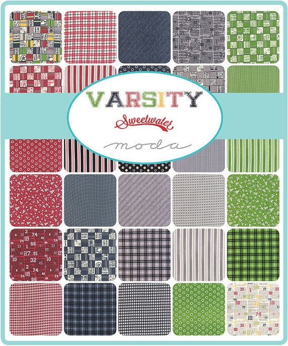Moda Varsity Charm Pack By Sweetwater