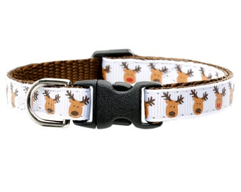 "Cat Collar - ""The Reindeer Games"" - Reindeer Holiday Print"