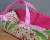 Doll Carrier, Bitty Baby Size,  Pink Modern Print, Fits up to 16 inch Doll