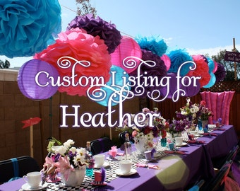 Custom Listing for Heather: Boutique Custom Mad Hatter Tea Party  Invitations -Payment3