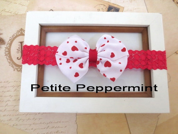 Red baby headband,baby lace headband,toddler headband,Girl hair bow, Baby Headband Bow, Red Baby Hair Bow, Toddler hair bow
