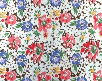 Emma Lena's Treasures floral on brown Choice fabrics FQ or more