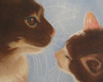Kitten Painting Cat Painting Cat Oil Painting Cat on Canvas Pet Painting Cat Art Kitten Art Cat Decor Kid's Decor Original Art Karen Snider