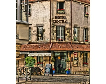 Fine Art Digital Print of Hotel Central in the French Wine Village of Beaune in Burgundy France