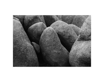 Fine Art Black & White Landscape Photography of Granite Boulders at Elephant Rocks in the Missouri Ozarks