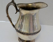 Silver Plate Hollowware by Sheets Rockford Plated Water Pitcher with Ice Lip