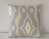 Cushion Cover: Grey and Yellow