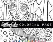50% Off- Chihuahua dog art coloring, coloring book, adult coloring book, coloring pages, coloring book for adults, printable coloring pages