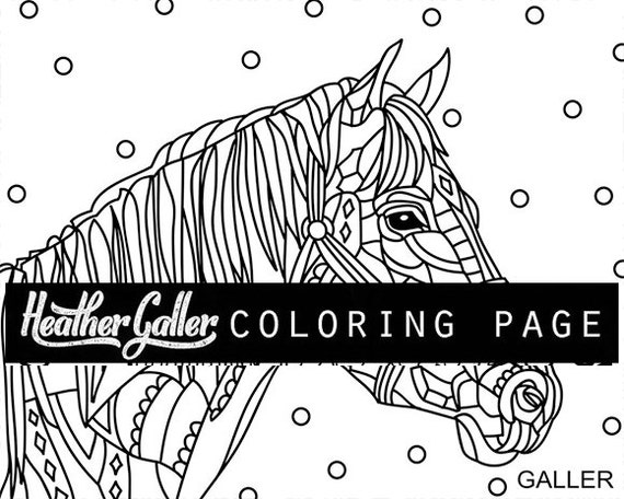 Horse Coloring Animal Book Adult Pages For Adults Printable