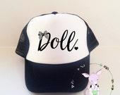 Kids Trucker Hat Doll Trucker Hat Girls fashion trucker hat toddler trucker hat doll heart bow hat kids trucker hat fashion bow girls hat