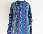 1980s 1990s Authentic COOGI Cotton Oversized Sweater Small Medium