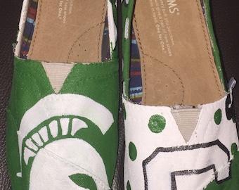Custom Painted Michigan State Toms