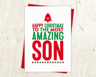 Happy Christmas Son Card