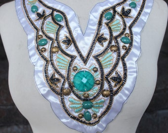 Cute embroidered  and beaded applique   1 pieces listing