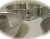 6 Aluminum Cake Pans Springform Angel Food Cake Pan Wear Ever 290 1 1/2 Qt Bundt Pans Jello Molds