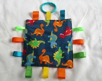 Dinosaur Taggie Ribbon Crinkle Toy