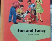 1959 book, text vintage schoolbook Fun and Fancy Ginn 223 pages illustrated text book children reading chapters 3rd 4th grade level stories