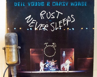 """ON SALE Neil Young and Crazy Horse Vinyl Record Album LIVE Lp 1970s Classic Rock and Roll Jamming """"Rust Never Sleeps"""" (Original 1979 Reprise"""