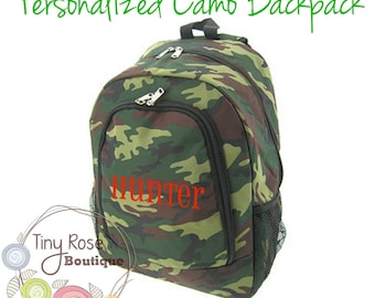 Personalized Camo Backpack Monogrammed Camo Backpack