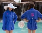 Columbia PFG Swim cover up long sleeve men's size, monogram Fishing Shirt, monogram Bridal Party Cover up, monogram swim cover