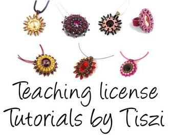 Teaching license for ONE beading pattern of Tiszi design