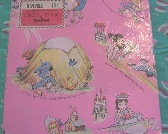 nursery rhymes wrapping paper