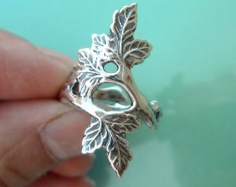 Autumn Leaf ring Unique Sterling Silver Jewelry Adjustable ring Sterling silver ring branch ring tree ring Not spoon ring R-114