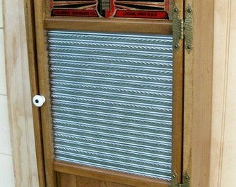 Primitive Washboard Wall Cabinet