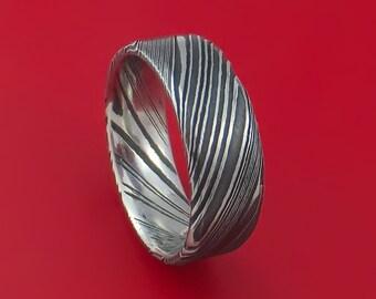 Kuro Damascus Steel Ring Custom Made Wedding Band