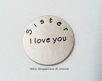 Sister I love you Floating Locket Plate, love plate, sister plate, floating locket plate