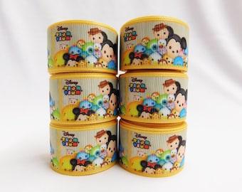 "1"" Tsum Tsum  Ribbon or Tsum Tsum Planar Resin For Hair Bows, Bows, Headbands, Flowers, Bow Center"