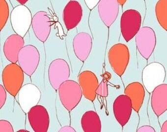 Michael Miller Children At Play Balloons Aqua Fabric - 1 yard
