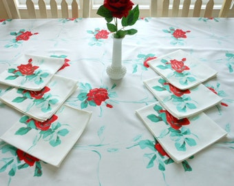Vintage Wilendur Tablecloth And Napkins Wilendur American Beauty Wheat Tablecloth And Napkins Free Shipping