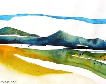 Valles Azul - Original Watercolor Painting