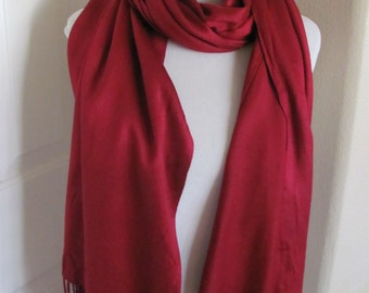 "Lovely Super Soft Kashmir Pashmina Scarf - 22"" x 70"" Long"