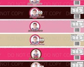 Printable DIY Personalized Owl First Birthday Theme Baby Food Jar Labels - 4 oz