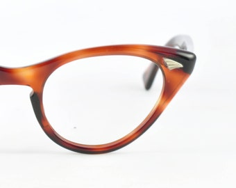 Classic Cat Eye Glasses, NOS, Vintage MB, Tortoise, 1950s, 1960s