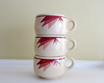 SALE! Vintage Restaurant Adobe Ware Coffee Cups (3)