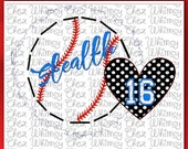 Baseball SVG,  Baseball with Rough Edges, Polka Dot Heart SVG, Baseball Design Svg, Baseball Splash Svg, Baseball Team Design