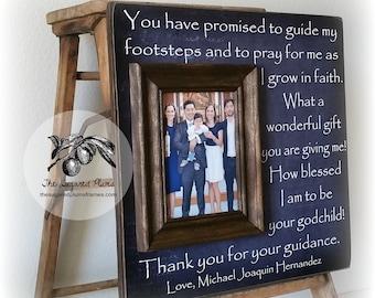 Gift For Godparents, Godmother, Godfather, Godparents Frame, Baptism Gift, Christening Gift, 16x16 The Sugared Plums Frames