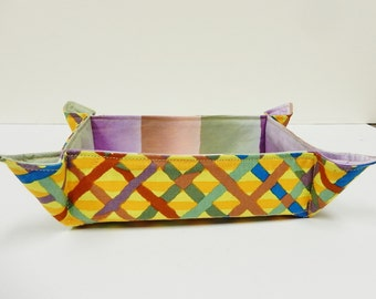 Fabric Basket Quilted, Fabric Storage Bin