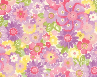 Colette Floral Blossom Violet Purple  Moda Quilt Fabric by the 1/2 yard #52-13