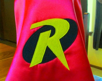 Newborn Photo Prop /Robin Cape and mask / Super hero prop / Photo Prop / Red with Bright Yellow lining