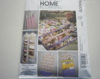 Pattern Home Decor Garment Bag and Organizers McCalls 6375