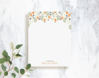 Personalized Note Card Set // Belle