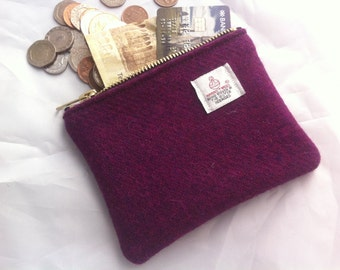 Harris tweed coin purse,Harris tweed pouch , charger pouch, womens gift, UK seller, British purse