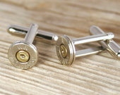 Bullet Cufflinks, Winchester 9mm Nickel Bullet Cufflinks, Wedding Cufflinks, 9mm Cufflinks, Groomsmen Gifts, Bullet Cuff Links