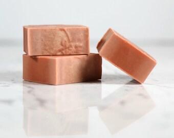 Moroccan Red Clay Facial Bar.  Bar Soap.  Face Soap.